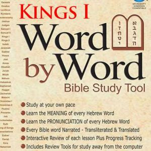 word by word bible study tool - Kings 1 Melachim 1